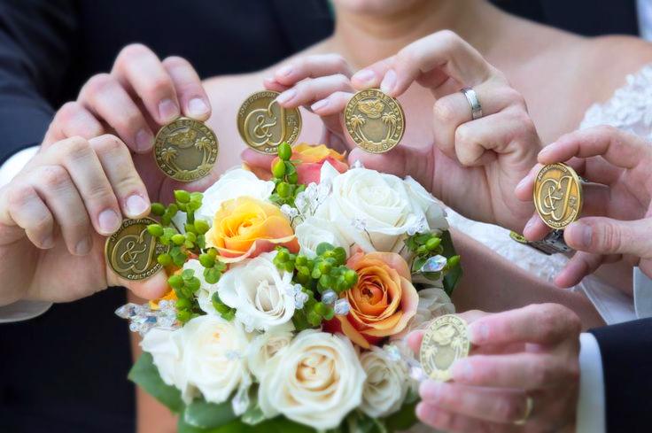 Medalhas de lembrança de casamento