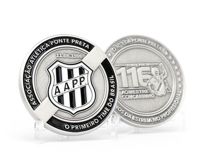 Medalha comemorativa dos 116 anos da Associação Atlética Ponte Preta ce3db09636660