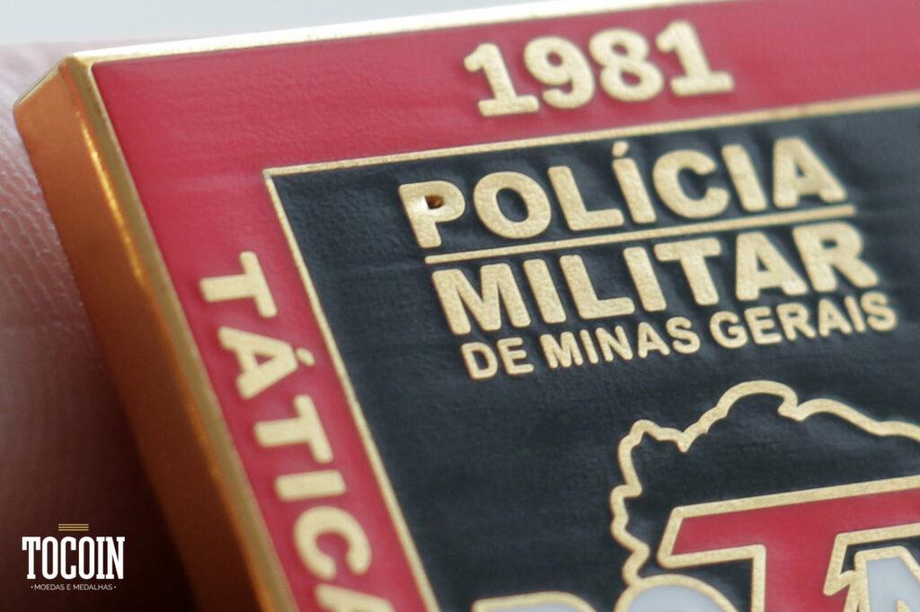 Detalhes dos brevês militares da ROTAM PMMG.