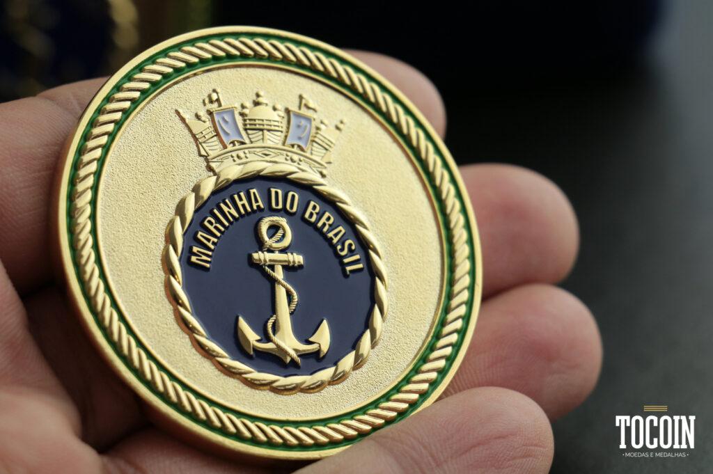 Medalha personalizada da Marinha do Brasil