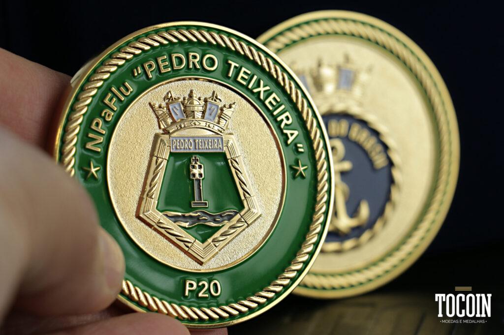 medalha NPaFlu Pedro Teixeira P20 Marinha do Brasil