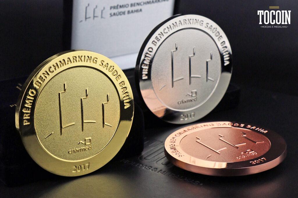 medalha premiar colaboradores