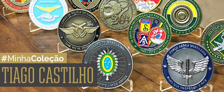 coleção de challenge coins