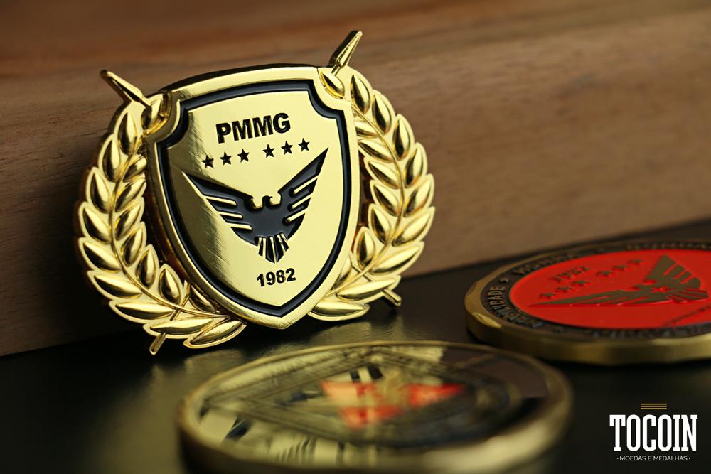 Brevê de metal - Radiopratrulhamento Tático Móveil da PMMG