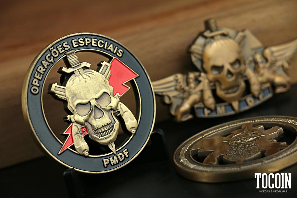 Moeda militar do BOPE PMDF