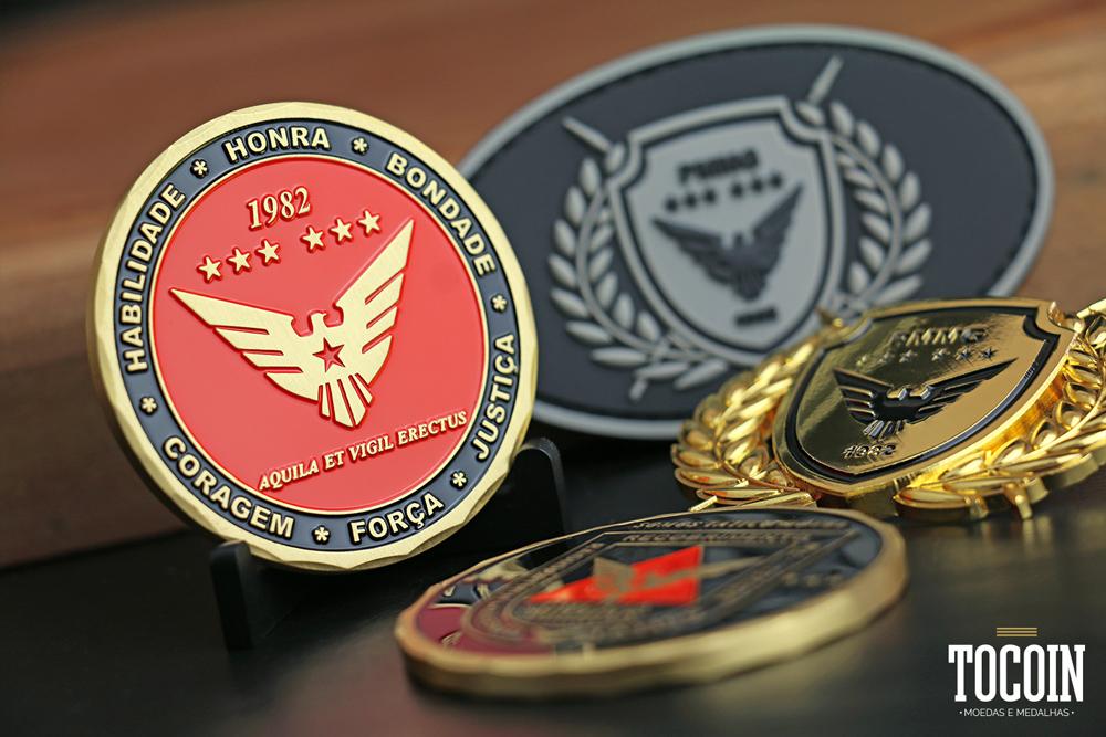 Moeda militar do Radiopatrulhamento Tático Móvel da PMMG