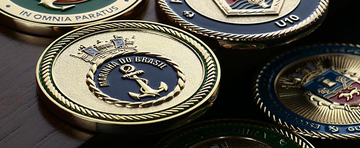 moedas personalizadas da marinha do brasil criadas pela tocoin