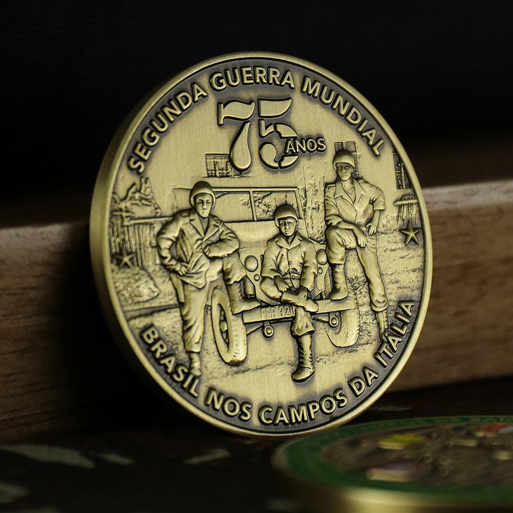 Reverso da moeda de 75 anos da FAB